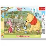 Trefl-31132 Rahmenpuzzle: Winnie Teatime