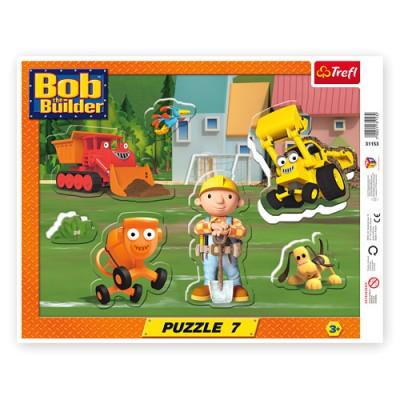 Trefl-31153 Rahmenpuzzle - Bob der Baumeister