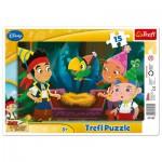 Trefl-31162 Rahmenpuzzle: Jake und die Piraten von Nimmerland