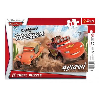 Trefl-31211 Rahmenpuzzle - Cars