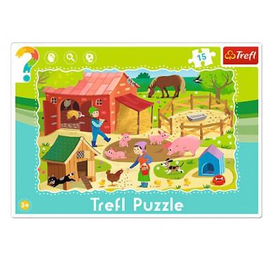 Trefl-31216 Rahmenpuzzle - Bauernhof