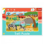 Trefl-31217 Rahmenpuzzle - Safari