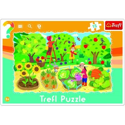 Trefl-31218 Rahmenpuzzle - Garden
