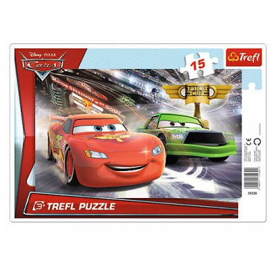 Trefl-31230 Rahmenpuzzle - Cars