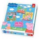 Trefl-34057 3 Puzzles Das Schwein Peppa