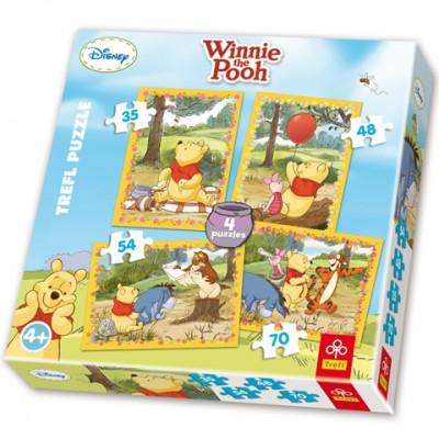 Trefl-34062 4 Puzzles: Winnie