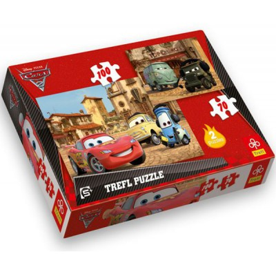 Trefl-34069 2 Puzzles: Cars