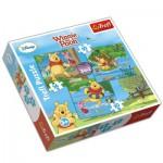 Trefl-34106 3 Puzzles Winnie