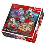 Trefl-34107 4 Puzzles in 1: Cars und seine Freunde