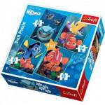 Trefl-34142 4 Puzzles in 1: Nemos wunderbare Welt