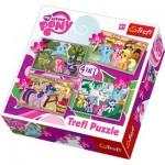 Trefl-34153 4 Puzzles in 1: Mein kleines Poney