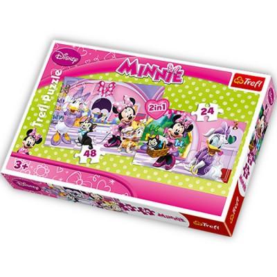 Trefl-34166 2 in 1 Puzzle: Daisy und Minnie