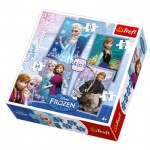 Trefl-34210 4 Puzzles - Disney: Frozen