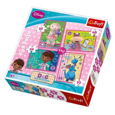 Trefl-34234 4 Puzzles - Doc McStuffins