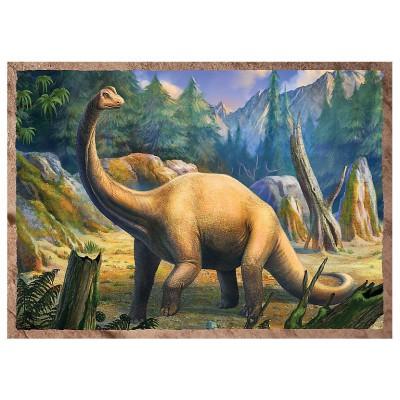 Trefl-34249 4 Puzzles - Dinosaurier