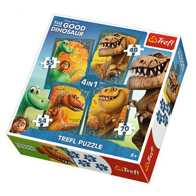 Trefl-34250 4 Puzzles - The Good Dinosaur