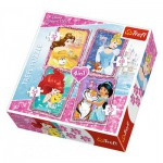Trefl-34256 4 Puzzles - Disney Princess