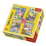 Trefl-34264 4 Puzzles - Sponge Bob