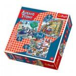 Trefl-34808 3 Puzzles - Rettung in der Not
