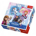 Trefl-34810 3 Puzzles - Disney: Frozen