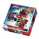 Trefl-34822 3 Puzzles - Spider-Man