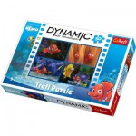 Puzzle  Trefl-35193 3D Effekt Dynamic - Nemo