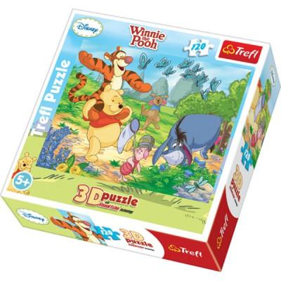 Puzzle Trefl-35648 Winnie fängt Schmetterlinge