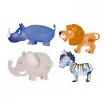 Trefl-36012 4 Puzzles - Afrikanische Tiere