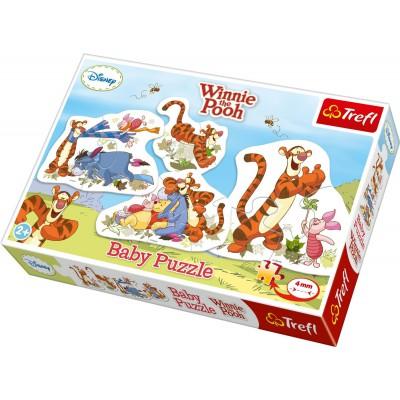 Trefl-36036 4 Puzzles - Winnie