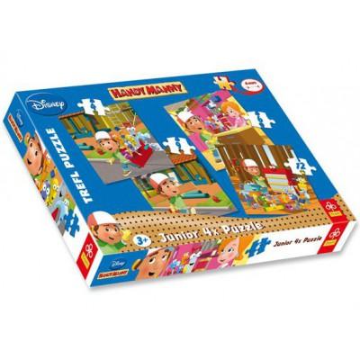 Trefl-36110 4 Puzzles - Handy Manny: Ans Werk