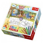 Trefl-36501 2 Puzzle und 8 Filzstifte - Winnie