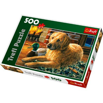 Puzzle Trefl-37165 Vor dem Kamin