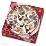 Trefl-39042 Rundpuzzle - Katzen