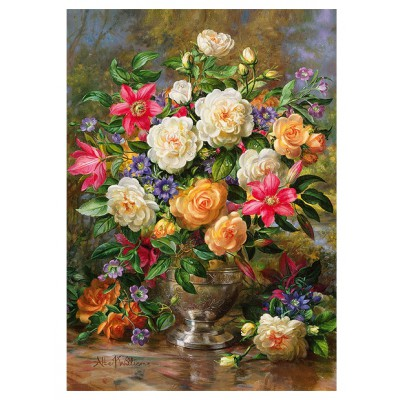 Puzzle Trefl-45003 Blumen für Queen Elizabeth