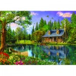 Puzzle  Trefl-45005 Dominic Davison: Crystal Lake Cabin