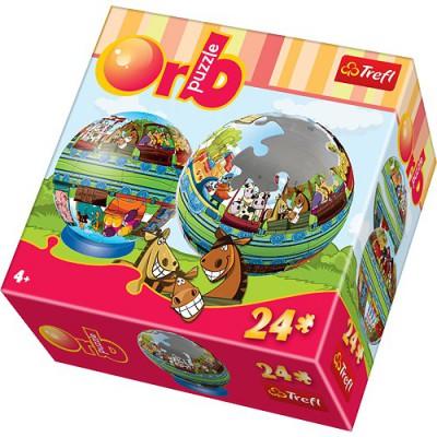 Trefl-60211 Puzzleball: Lustiger kleiner Zug