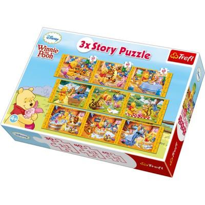 Puzzle Trefl-90304 3 Geschichten, 3 Größen: Winnie