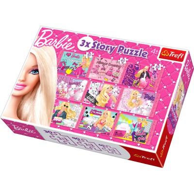 Puzzle Trefl-90309 3 Geschichten, 3 Größen: Barbie