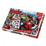 Trefl-90501 Puzzle Avengers + 20 tattoos