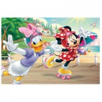 Trefl-90504 Puzzle + 20 Tattoos: Minnie Maus