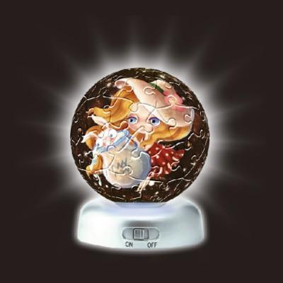 Pintoo-A2393 Puzzlekugel aus Kunststoff - Nachtlicht - Sternzeichen: Wassermann
