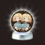 Pintoo-A2497 Puzzlekugel aus Kunststoff - Nachtlicht - Sternzeichen: Zwilling