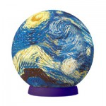 Pintoo-A2619 Puzzlekugel aus Kunststoff 60 Teile - Van Gogh Vincent: Sternennacht
