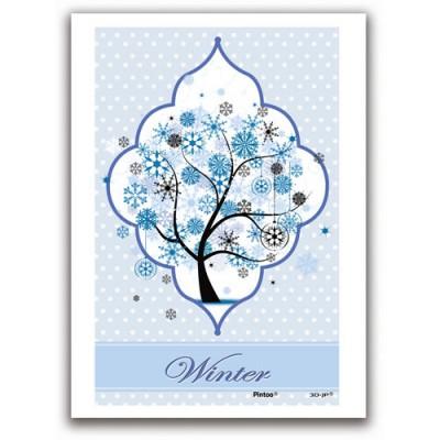Pintoo-M1239 Puzzle aus Kunststoff 40 Teile - Circles of Hope: Winter