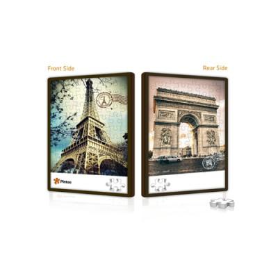 Pintoo-U1005 Puzzle Push aus Kunststoff 48 Teile - Eiffelturm und Triumphbogen