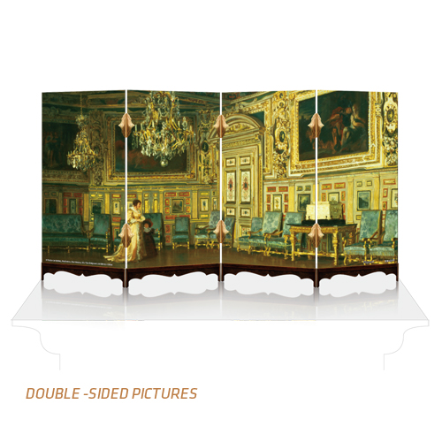 puzzle 3d paravent zweiseitig aus kunststoff 462 teile. Black Bedroom Furniture Sets. Home Design Ideas