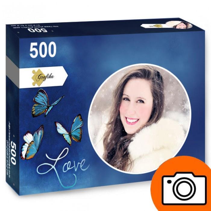 500 Teile Fotopuzzle - Rund