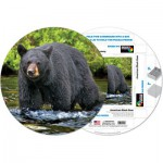 Pigment-and-Hue-RBEAR-41222 Fertiges Rundpuzzle - Amerikanischer Schwarzbär