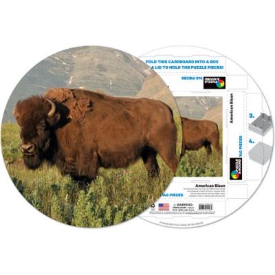 Pigment-and-Hue-RBISON-41226 Fertiges Rundpuzzle - Amerikanischer Bison