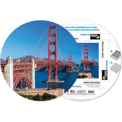 Pigment-and-Hue-RGGB-41218 Fertiges Rundpuzzle - San Francisco: Golden Gate Bridge
